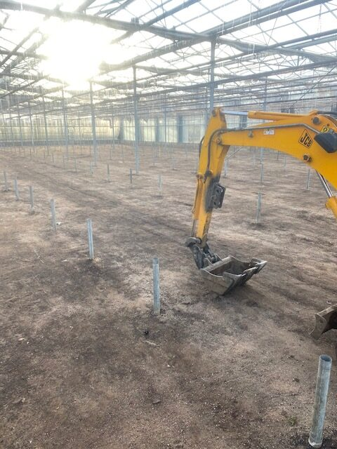 Digger work in Spalding Lincolnshire