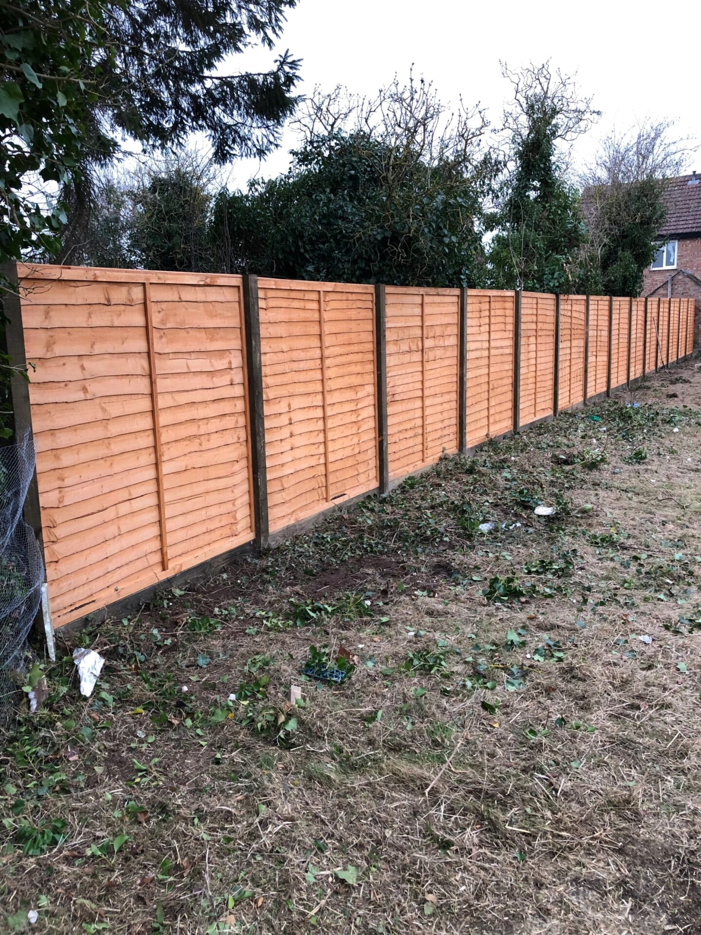 Wooden Post And Panel Fencing